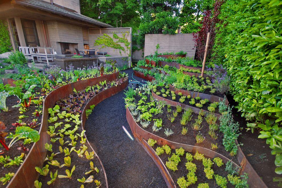 Интересное оформление огорода