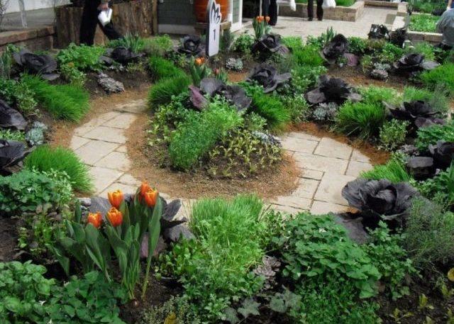 Удобное оформления огорода