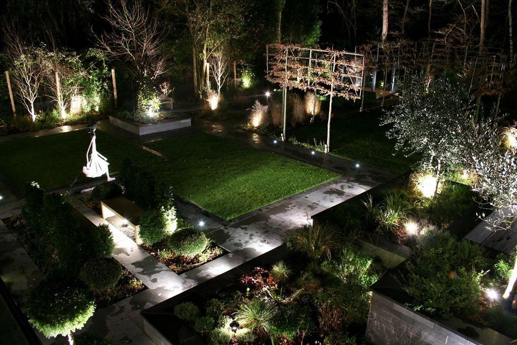 Освещение садового участка в ландшафтном дизайне