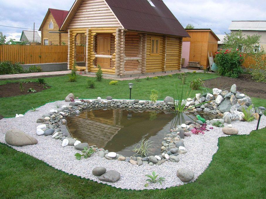 Баня в ландшафтном дизайне