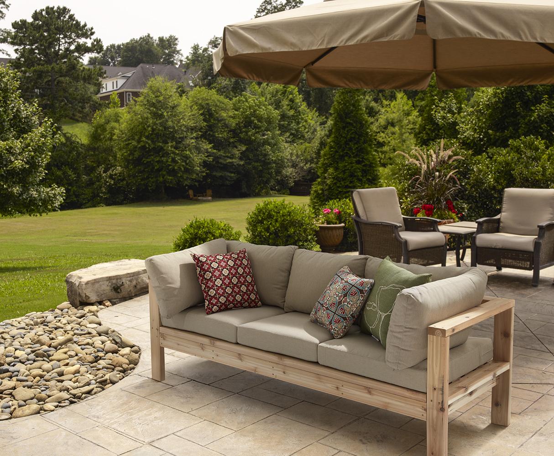Садовая мебель диван деревянный